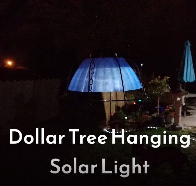 Hanging Solar Light made with Dollar Tree Items