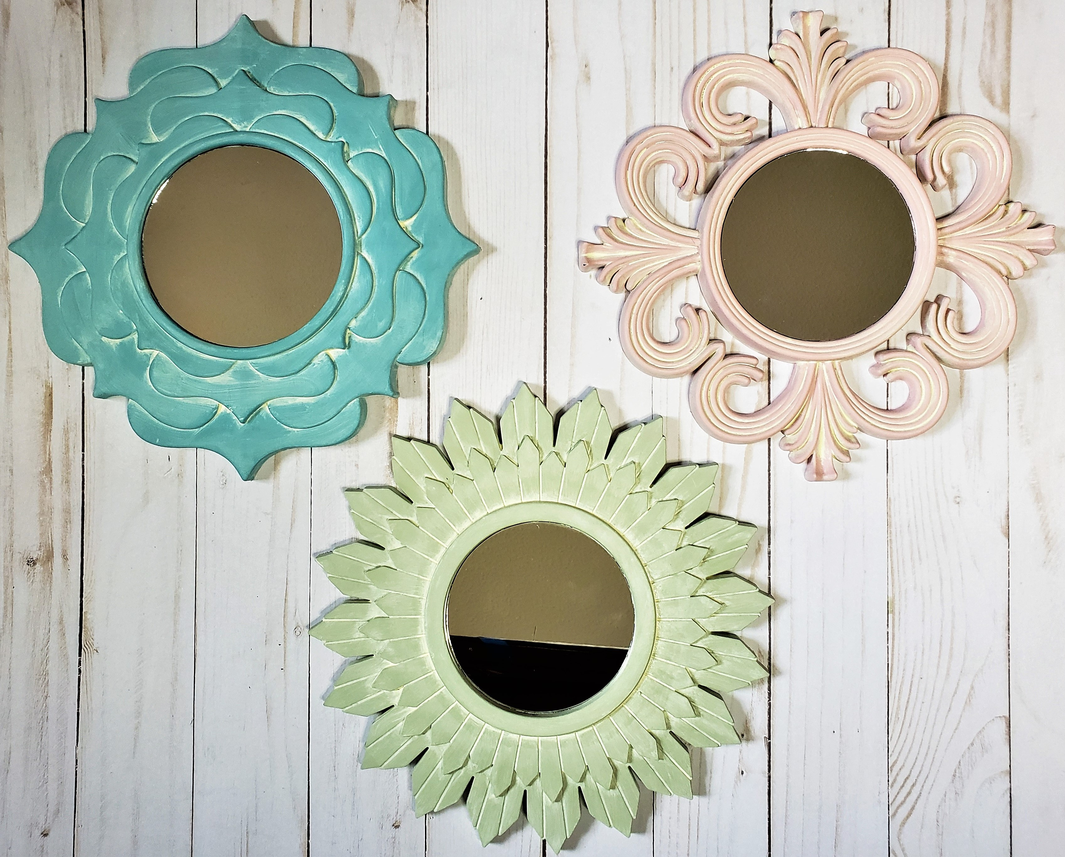 Dollar Tree Mirrors Transformed into Farmhouse Style Elegance