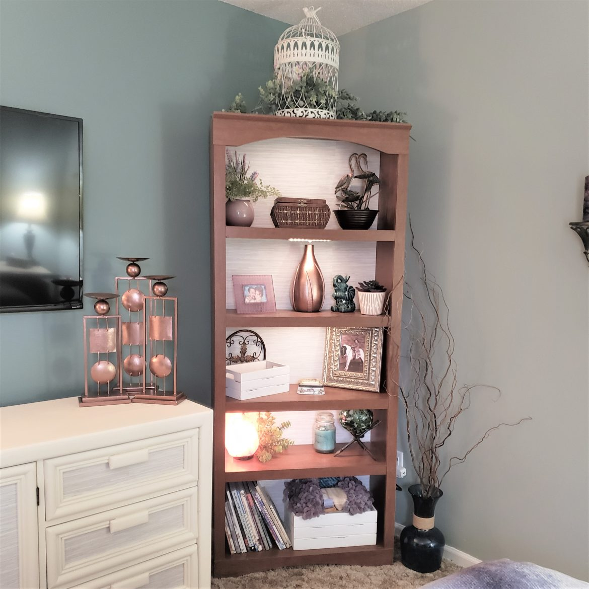 Taking a Bookcase from Drab to Fab